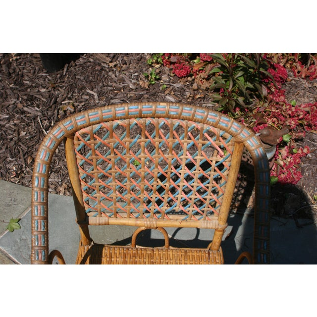 Wicker Early 20th Century Antique Children's Cane Chair For Sale - Image 7 of 10
