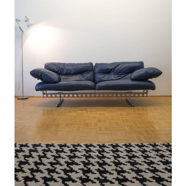 Asian Pierluigi Cerri Ouverture Leather Sofa for Poltrona Frau, Italy, 1980 For Sale - Image 3 of 7