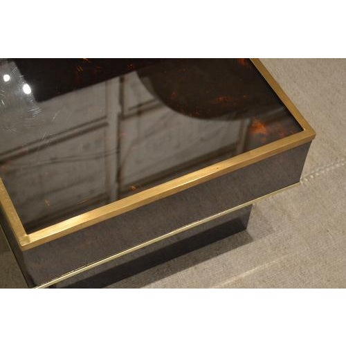 Mid-Century Tortoise Lacquered Table, France For Sale In Nashville - Image 6 of 8