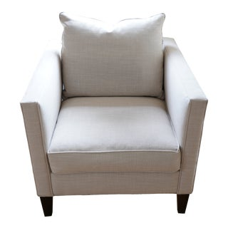 West Elm Arm Chair in Grey For Sale