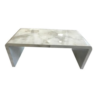 Jean Michel Frank Parchment Waterfall Coffee Table For Sale