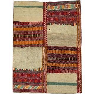 "Vintage Persian Flatweave Kilim Rug – Size: 6"" X 7'11"" For Sale"