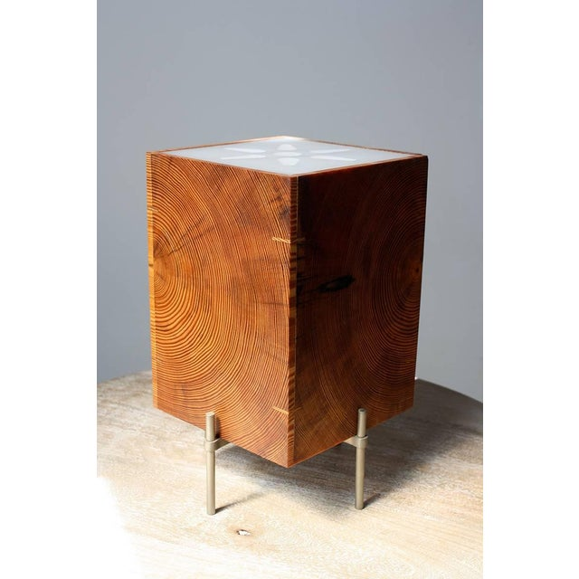 2010s AKMD Southern Yellow Pine Table Translucent Lamp For Sale - Image 5 of 6