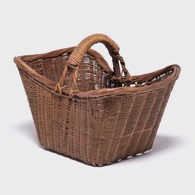Chinese Twist Woven Market Basket For Sale - Image 4 of 8