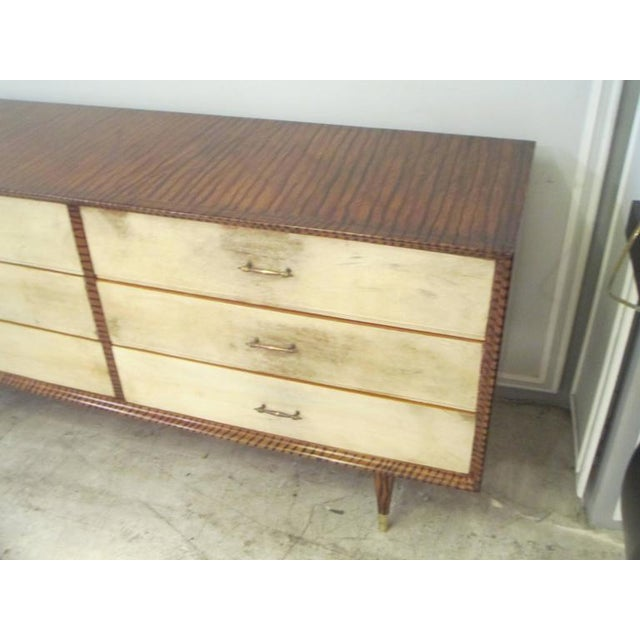 Mid-Century Modern Mid-Century Faux-Painted Parchment Chest For Sale - Image 3 of 4