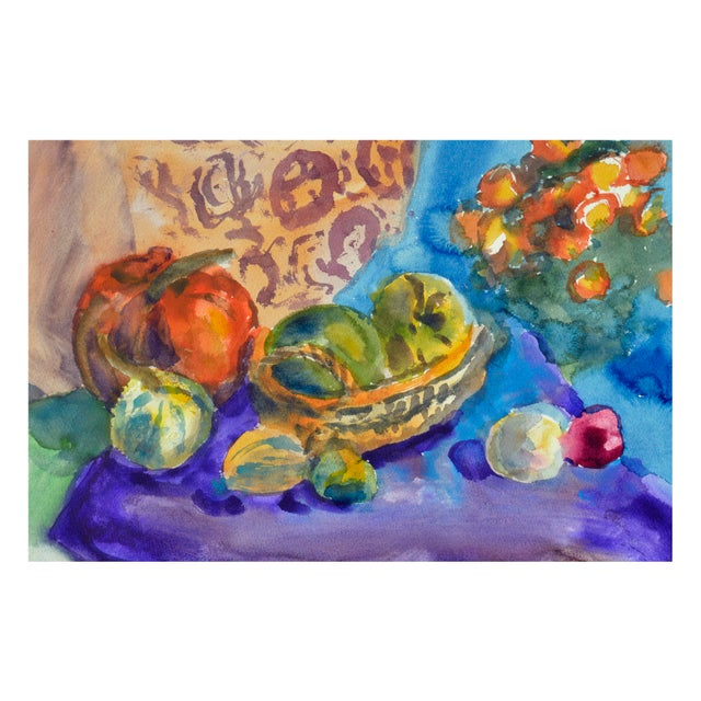 Les Anderson Harvest Still Life Painting - Image 3 of 4