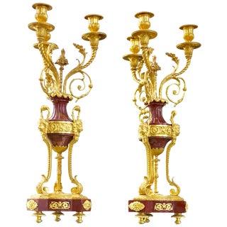 Pair of Louis XVI Candelabra For Sale