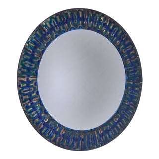 Bodil Eje Enameled Copper Wall Mirror, Denmark For Sale