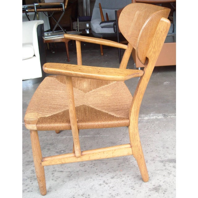Modern 1950s VintageCarl Hansen for Hans Wegner Ch22 Armchair For Sale - Image 3 of 7
