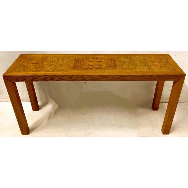 Lane Furniture 1970s Lane Burlwood Console Table For Sale - Image 4 of 5