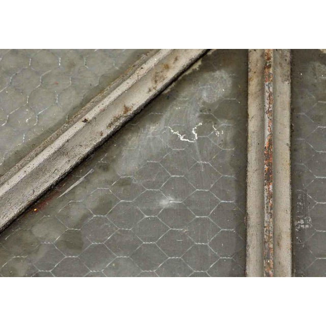 Cast Iron Frame Chicken Wire Glass Window Table - Image 4 of 5