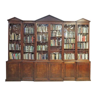 Late 18th C English Mahogany and Pine Secondary Breakfront For Sale