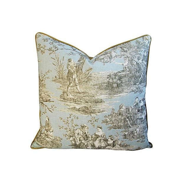 Custom Brunschwig & Fils Romantic Toile Pillow - Image 1 of 3