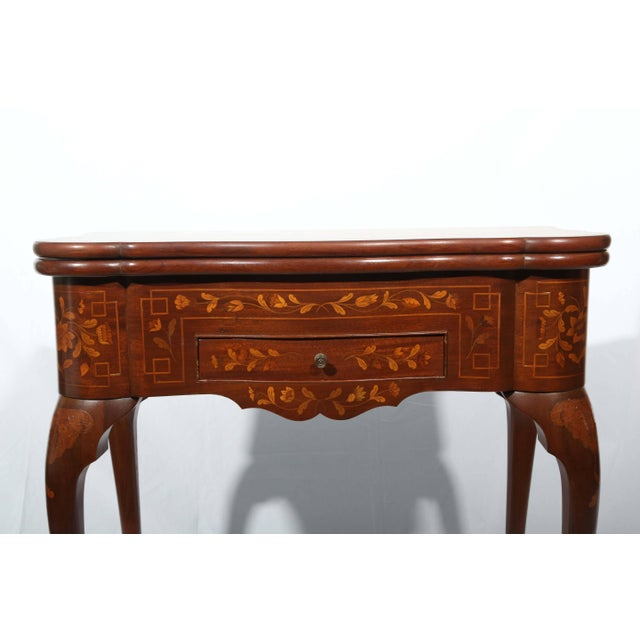 Fine Dutch Marquetry Game Table For Sale - Image 9 of 11