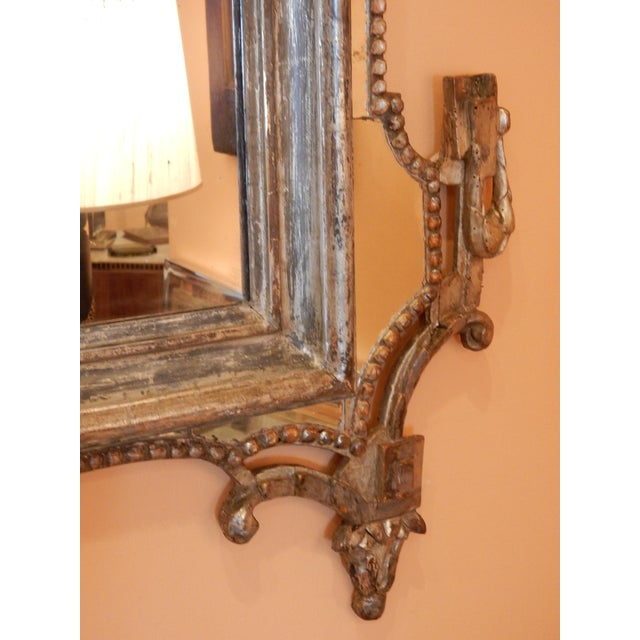 Directoire' Worn Silver Gilt Mirror For Sale In New Orleans - Image 6 of 10