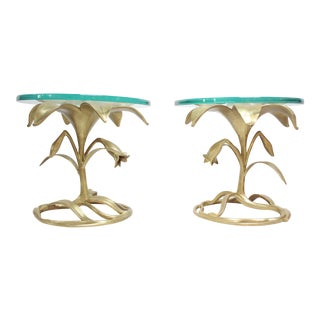 Pair of Arthur Court 'Lily' Side Tables For Sale