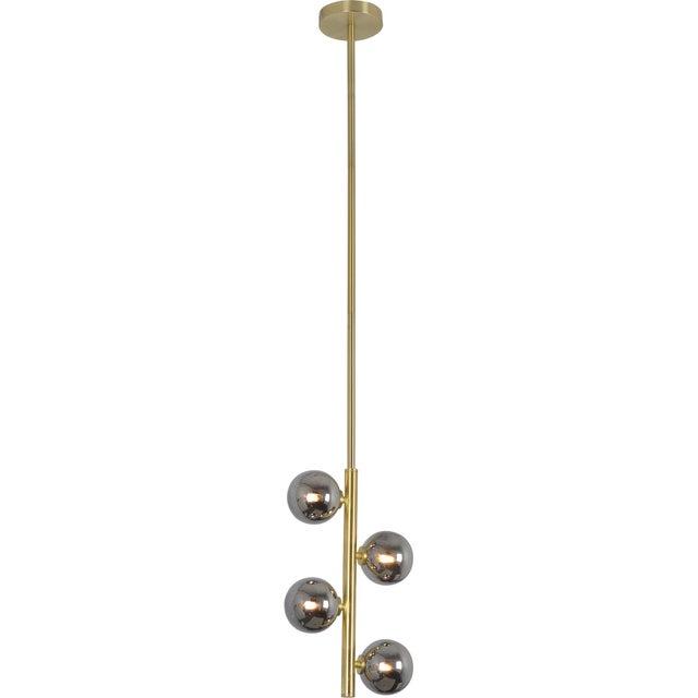 Jessamine Satin Brass Ceiling Pendant For Sale - Image 4 of 4