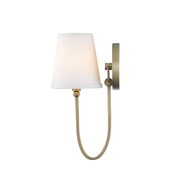 Signature 1 Light Sconce, Antique Brass For Sale In Atlanta - Image 6 of 6