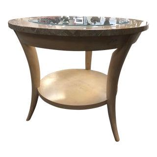 Vintage Henredon Marble & Glass Side Table For Sale