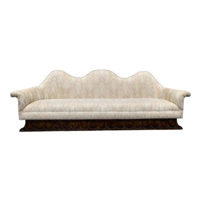 Mid Century Camelback Sofa For Sale