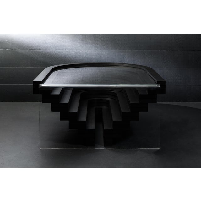 Black Brutiful U&i Coffee Table, Geometric Coffee Table by Birnam Wood Studio For Sale - Image 8 of 13