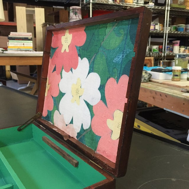 Vintage Artist Box With Green Interior - Image 5 of 7