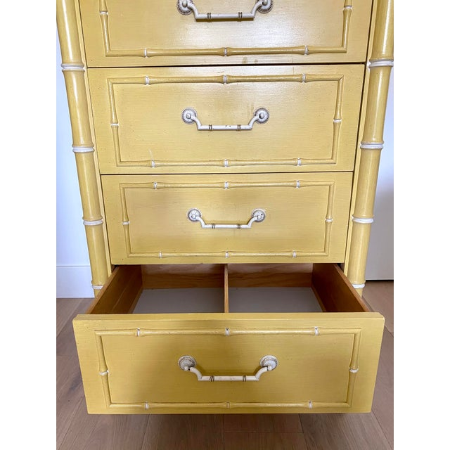 Vintage Thomasville Faux Bamboo Dresser For Sale In San Francisco - Image 6 of 10