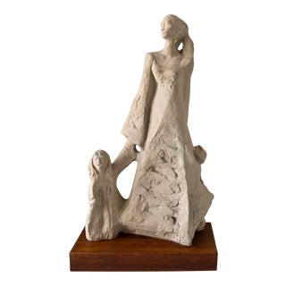 Klara Sever Mother and Child Sculpture For Sale