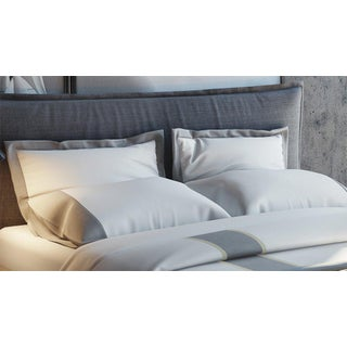 Monte Carlo Banded Pillowcases Standard - Graphite Preview
