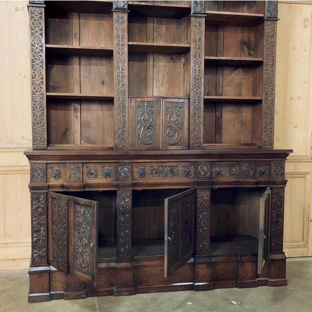 19th Century Renaissance Bookcase For Sale - Image 4 of 13