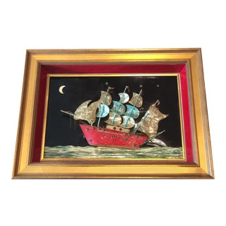 Newly Framed 1940s Nautical Boat Celluloid Collage For Sale