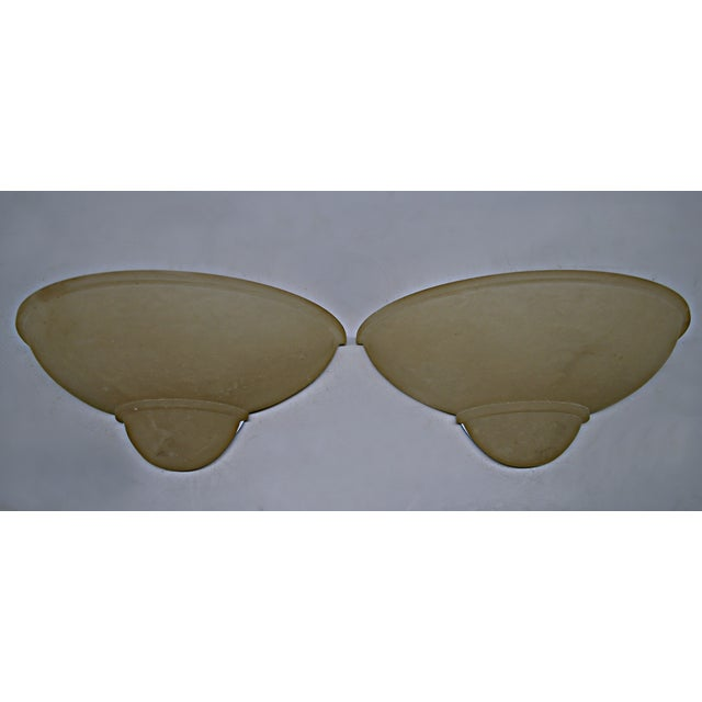 Art Deco Style Alabaster Sconces - A Pair - Image 3 of 7