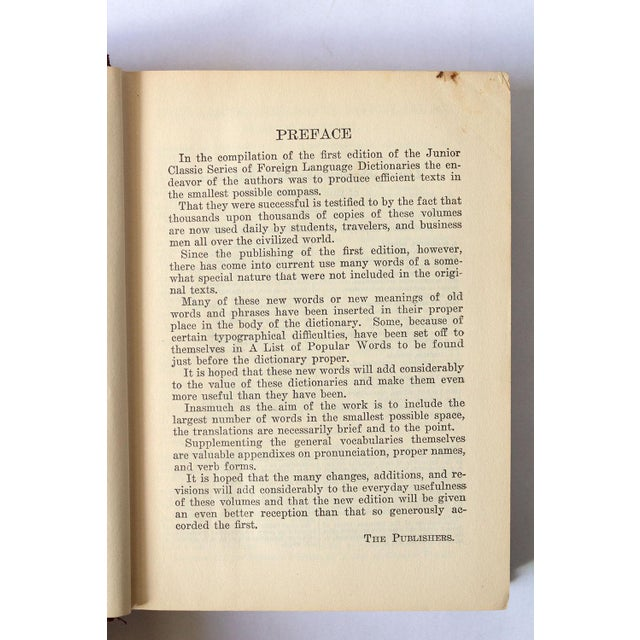 1940s Vintage French-English Dictionary For Sale - Image 9 of 11