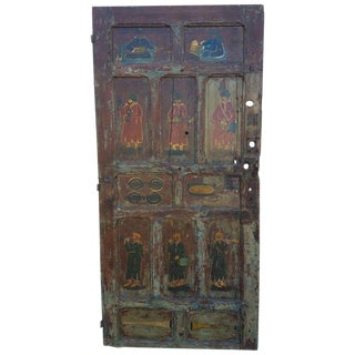 1970's Vintage Asian-Moroccan Multicolor Door For Sale
