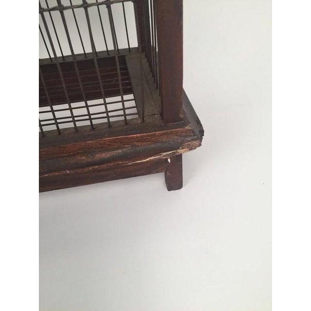 1940s Antique Wood & Metal Bird Cage - Image 5 of 6