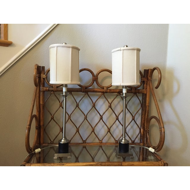 Candlestick Style Lamps - A Pair - Image 5 of 5