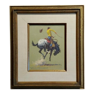 Nicholas Samuel Firfires -Appaloosa Bronco - Western Oil Painting -1968 For Sale