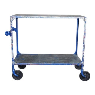 Early 20th C. Vintage Industrial Bar Cart For Sale