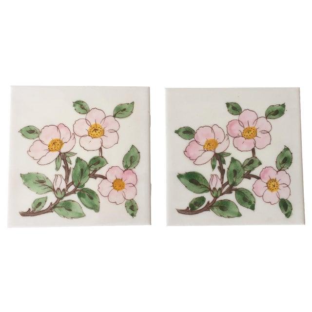 Franciscan Desert Rose Trivets or Tiles - a Pair - Image 1 of 7