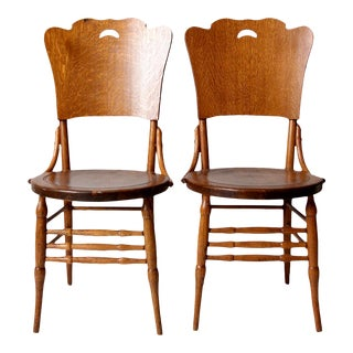 Antique Bentwood Dining Chairs - a Pair For Sale