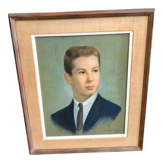 Vintage Young Man Portrait For Sale