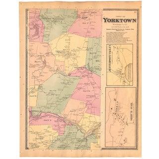 Yorktown, Westchester County, New York, Original Map, Vintage, Antique Map 1867 For Sale