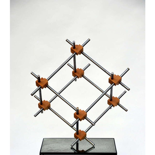This listing is for a Geometric abstract sculpture by Alex Andre.