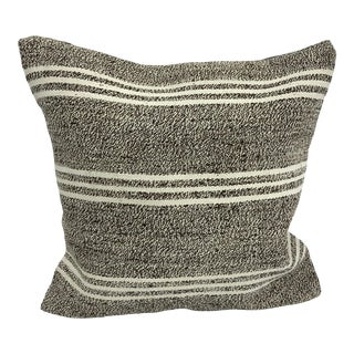 Primitive Traditional Turkish Antique Hand Woven Pillow Cover For Sale