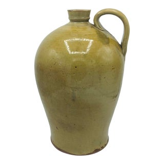 Vintage Large Earthenware Handled Jug For Sale