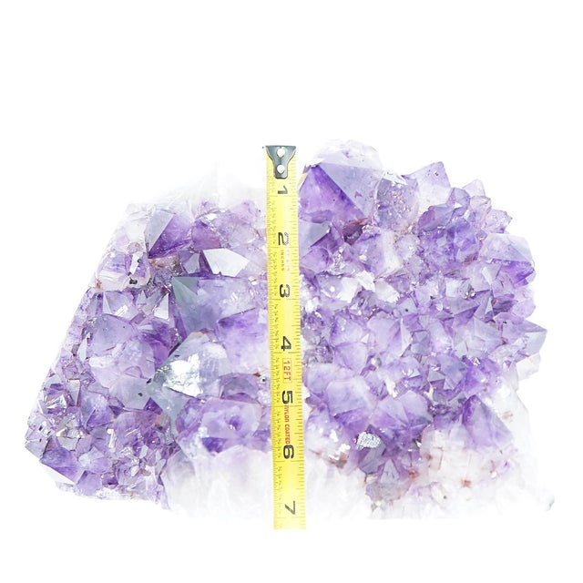 Large Amethyst Geode Bookends - a Pair For Sale - Image 11 of 11