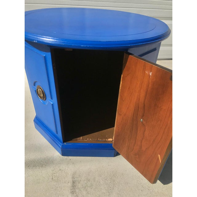 Final Markdown 1970s Boho Chic Cobalt Blue Side Cabinet For Sale In New Orleans - Image 6 of 12