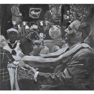 Fellini Dancers Grey Painting For Sale
