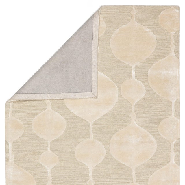 Nikki Chu by Jaipur Living Sui Handmade Geometric Beige/ Cream Area Rug - 8′ × 10′ For Sale - Image 4 of 6