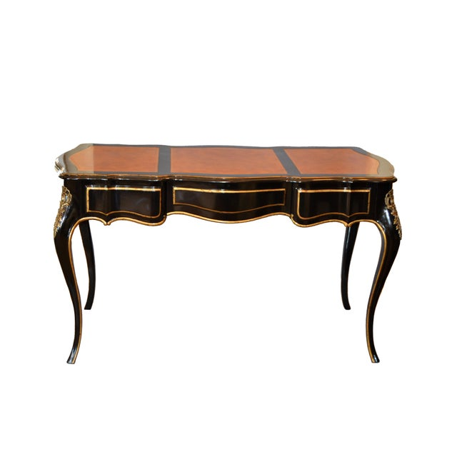 In the Manner of French Louis XV Writing Desk With Stool by Drexel For Sale - Image 10 of 13